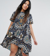 AX Paris Plus Oversize Geo Swing Dress