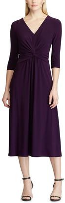 Chaps Women's Gathered Knot Midi Dress