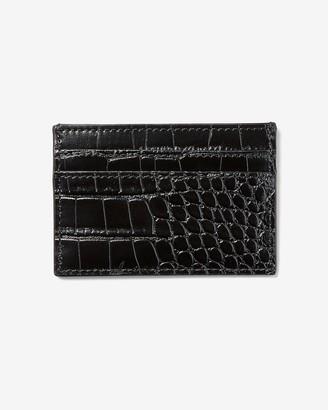 Express Black Vegan Leather Textured Card Case
