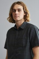 Urban Outfitters Blackwatch Plaid Short Sleeve Button-Down Shirt