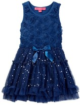Betsey Johnson Rose Soutache Top & Sequin Disco Dot Tulle Dress (Big Girls)