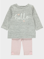 George Knitted Hello Top and Leggings Set