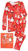 Girl's Books To Bed 12 Days Of Christmas Fitted Two-Piece Pajamas & Book Set