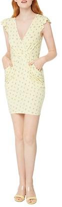 BCBGeneration Flutter-Sleeve Floral Dress