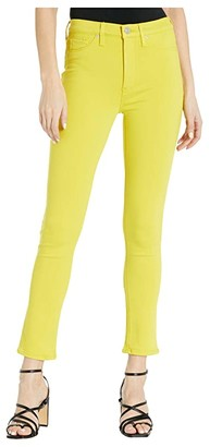 Hudson Barbara High-Rise Skinny Ankle Jeans in Citron (Citron) Women's Jeans