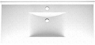 "Swan Contour Solid Surface 49"" Single Bathroom Vanity Top Top Finish: Arctic Granite"