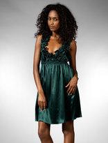 Berry Silk Charmeuse Dress