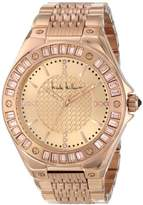 Nicole Miller Women's NMC004C 'Madison' Rose Gold Bracelet Analog Watch