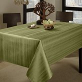 "Benson Mills Flow Heavy Weight ""Spillproof"" 60-Inch by 120-Inch Fabric Tablecloth, Sage"