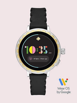 Kate Spade Black Silicone Scallop Smartwatch 2