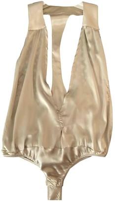 Patrizia Pepe Gold Silk Top for Women