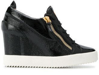 Giuseppe Zanotti Round Toe Wedge Sneakers