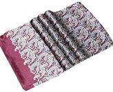Surker Men 's Double - Layer Silk Crepe Satin Long Towel Scarf 21 colors