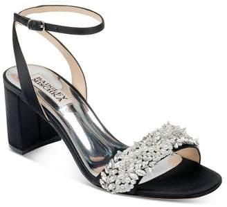 Badgley Mischka Women's Clara Embellished Block Heel Sandals