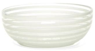Yali Glass - A Nastro Small Glass Salad Bowl - White