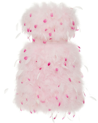 Pamella Roland Strapless Feather-Embellished Tulle Dress