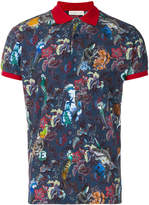Etro contrast trim graphic polo