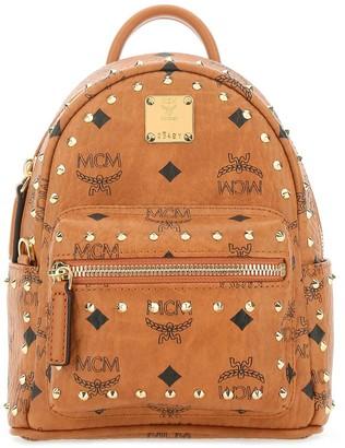 MCM Visetos Studded Backpack