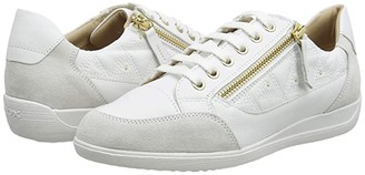 Geox Myria 51 (White/Off-White) Women's Shoes
