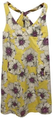 Henry Cotton Yellow Silk Dress for Women