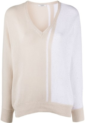 Peserico two-tone knit jumper