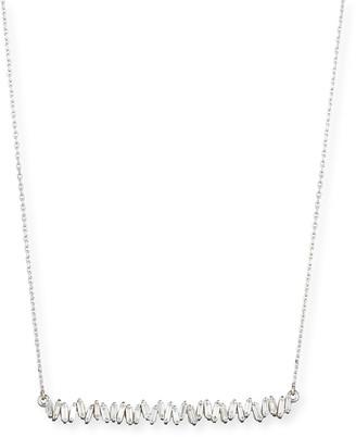 Suzanne Kalan 18K White Gold Diamond Baguette Necklace, 0.56 tdcw