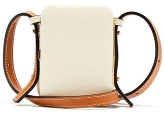 Lutz Morris Norman Mini Grained-leather Cross-body Bag - Cream Multi