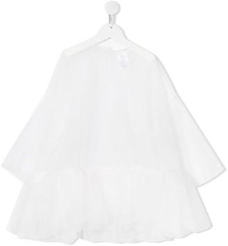 Scrambled Ego Ruffled Detailing Tulle Dress