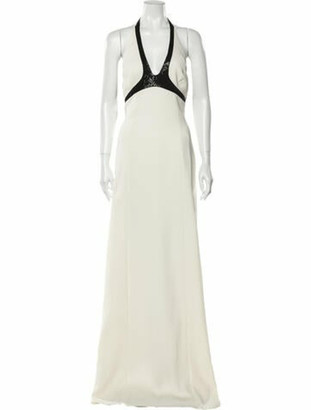 Narciso Rodriguez Silk Long Dress White