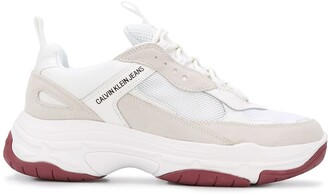 Calvin Klein Jeans Contrast Panel Side Logo Detail Sneakers