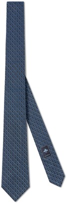 Gucci Silk tie with framed Double G