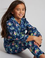 Marks and Spencer Pure Cotton Floral Print Pyjamas (1-16 Years)