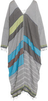 Lemlem Eve Cotton-blend Kaftan - Gray