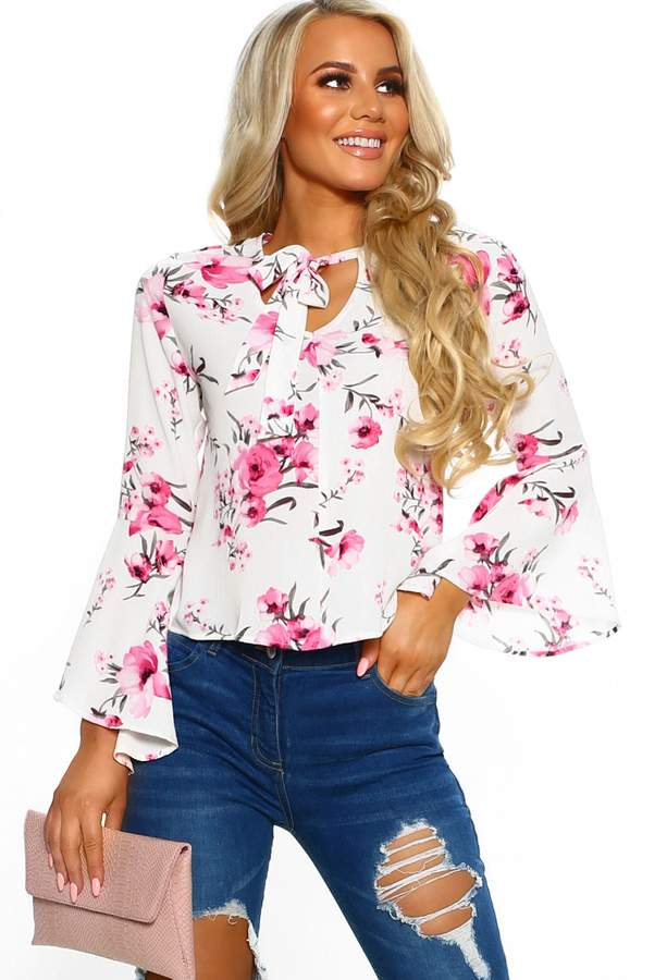 9b329c6c30ff Polyester Pussy Bow Blouse - ShopStyle UK