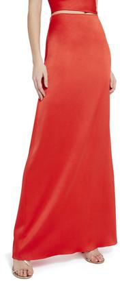 Alice + Olivia Maeve Slip Maxi Skirt With Slit
