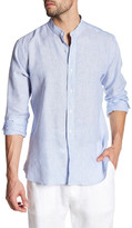 Toscano Striped Linen Regular Fit Shirt