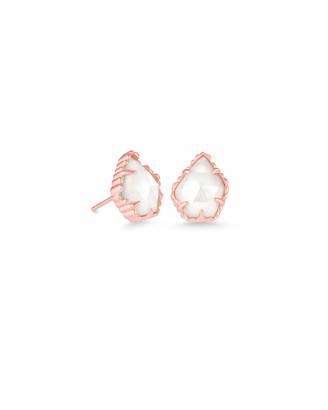 Kendra Scott Tessa Rose Gold Stud Earrings in Ivory Pearl