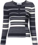 Derek Lam 10 Crosby Long Sleeve Pullover With Barbells