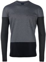 Lanvin striped panel pocket T-shirt - men - Cotton - S