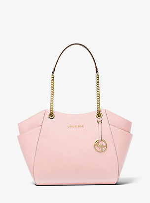 MICHAEL Michael Kors MK Jet Set Large Saffiano Leather Shoulder Bag - Powder Blush - Michael Kors