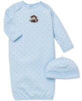 Little Me Baby Boys' 2-Piece Monkey Hat & Gown Set