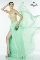 Alyce Paris - Beaded Strapless Sweetheart Long Dress With Side Slit 6568