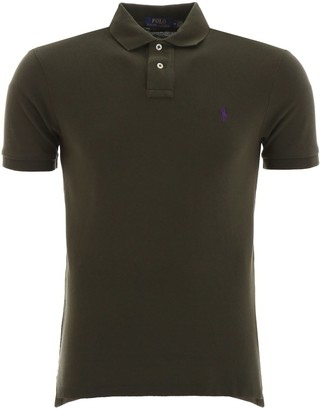 Polo Ralph Lauren Logo Embroidered Slim Fit Polo Shirt