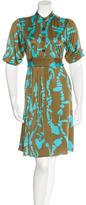 Mara Hoffman Abstract-Print Knee-Length Dres