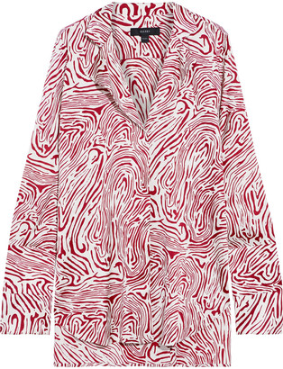 Ellery Mona Tiger-print Silk-blend Satin Blouse