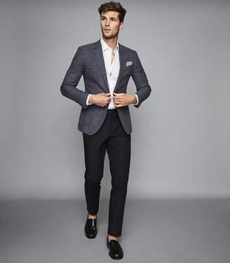 Reiss Seep - Slim Fit Basket Texture Blazer in Blue