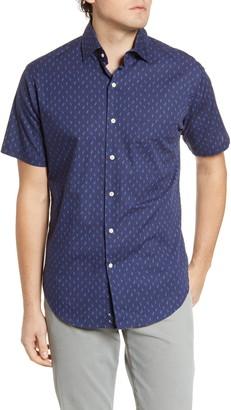 Peter Millar Raise The Reef Regular Fit Short Sleeve Button-Up Shirt