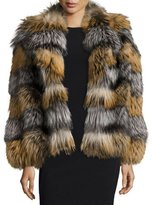 Simonetta Ravizza Bond Cross Fox & Silver Fox Fur Jacket, Cross/Silver