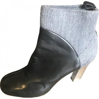 Dries Van Noten Grey Leather Boots