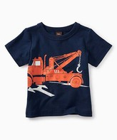 Tea Collection Boys' Tee Shirts Whale - Whale Blue Tow Truck Tee - Infant